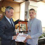 Prijem za Marjana Jankovića svetskog prvaka u karateu