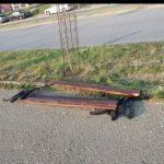 Uništena klupa u Radničkoj ulici