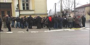Protest radnika Rudnika Grot